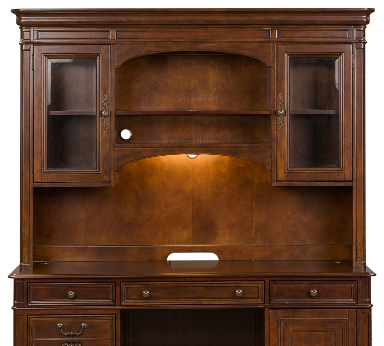 Brayton Manor Jr Executive Credenza Hutch by Liberty Furniture at Darvin Furniture