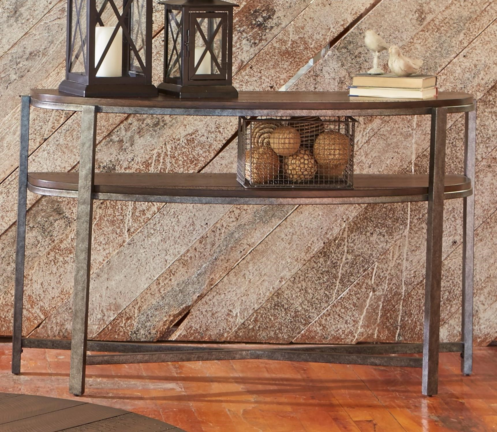 Breckinridge Demilune Sofa Table by Libby at Walker's Furniture