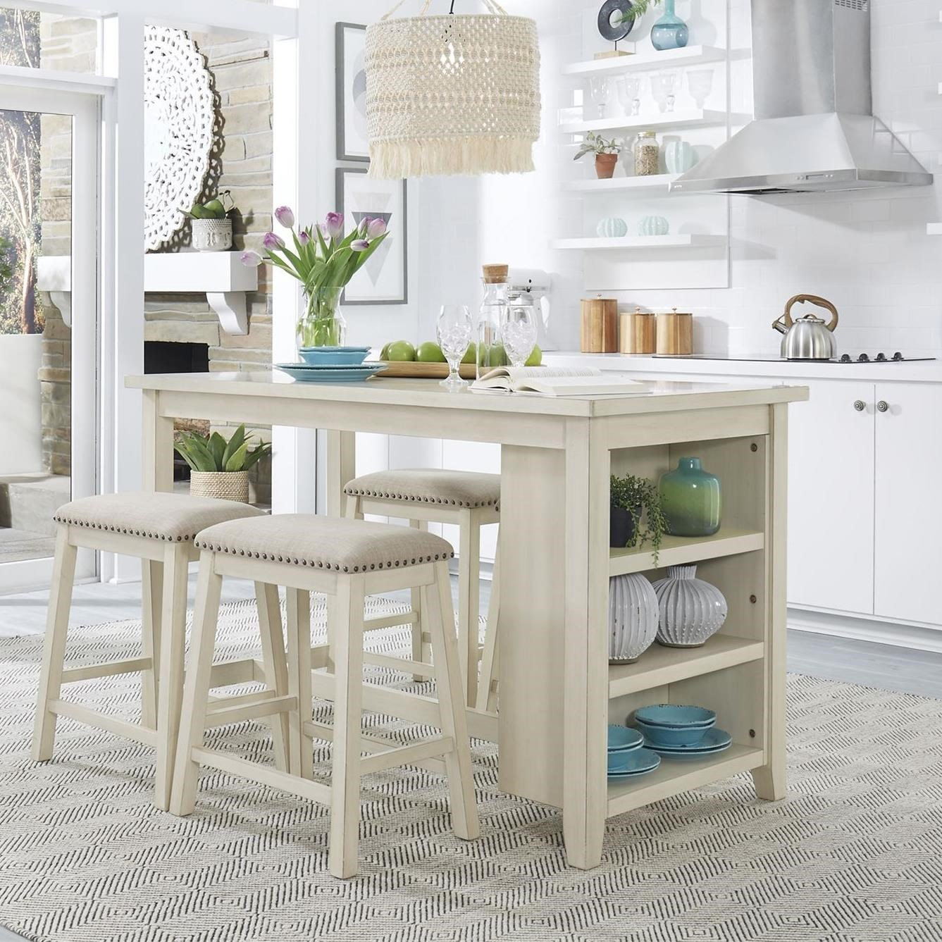 Brook Creek 5-Piece Counter Set by Libby at Walker's Furniture
