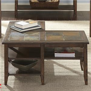 Liberty Furniture Brookstone L-Shaped Cocktail Table