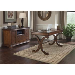 Traditional Writing Desk & Credenza