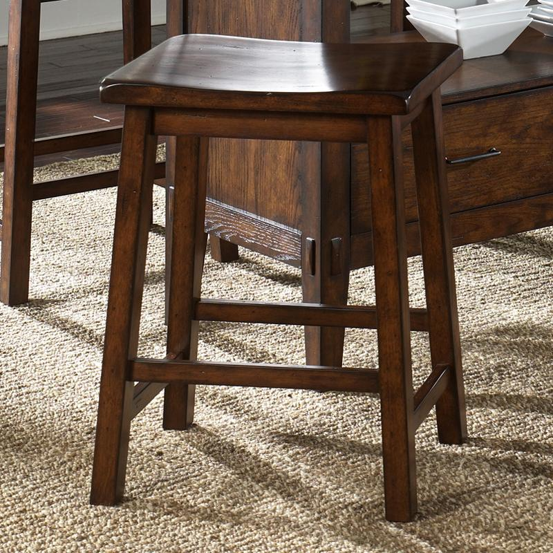 Cabin Fever Sawhorse Barstool by Liberty Furniture at Coconis Furniture & Mattress 1st