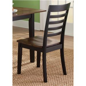 RTA Casual Slat Back Side Chair