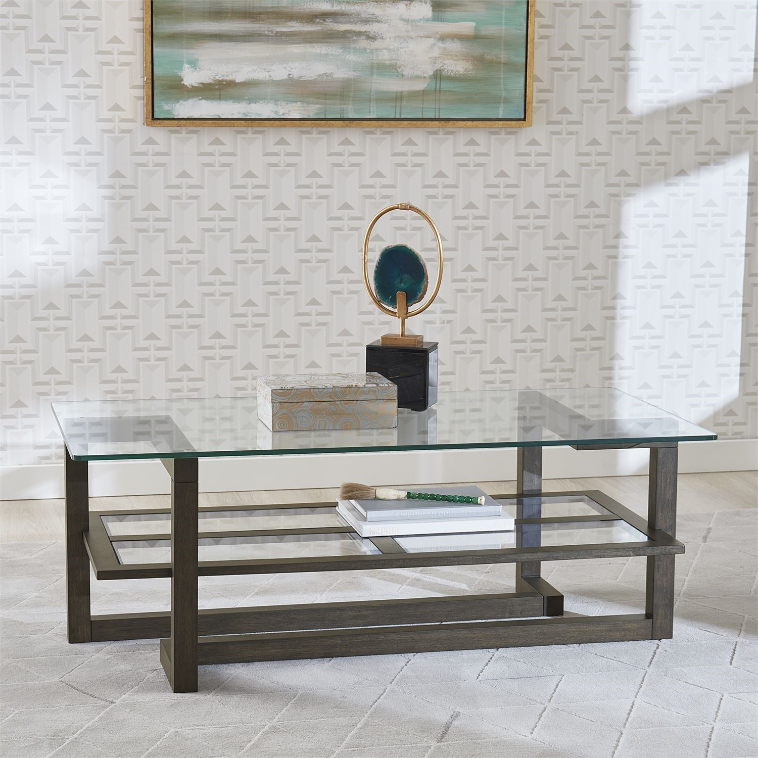 Calypso Rectangular Cocktail Table by Libby at Walker's Furniture