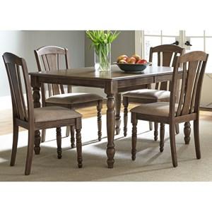 Casual 5 Piece Rectangular Table Set
