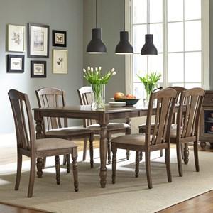 Liberty Furniture Candlewood 7 Piece Rectangular Table Set
