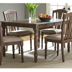 Casual Bow Shaped Rectangular Leg Table