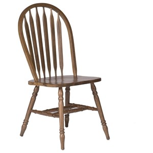 Windsor Side Chair with Arrow Chairback Design