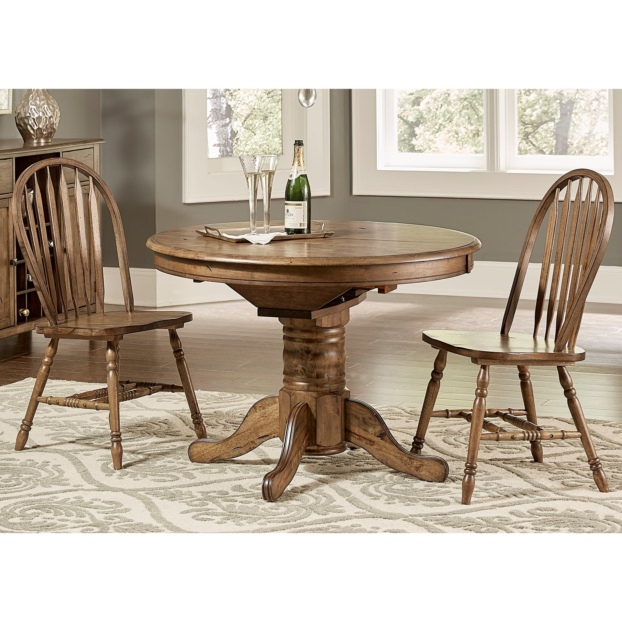 Carolina Crossing Pedestal Table and Chair Set by Liberty Furniture at Lapeer Furniture & Mattress Center