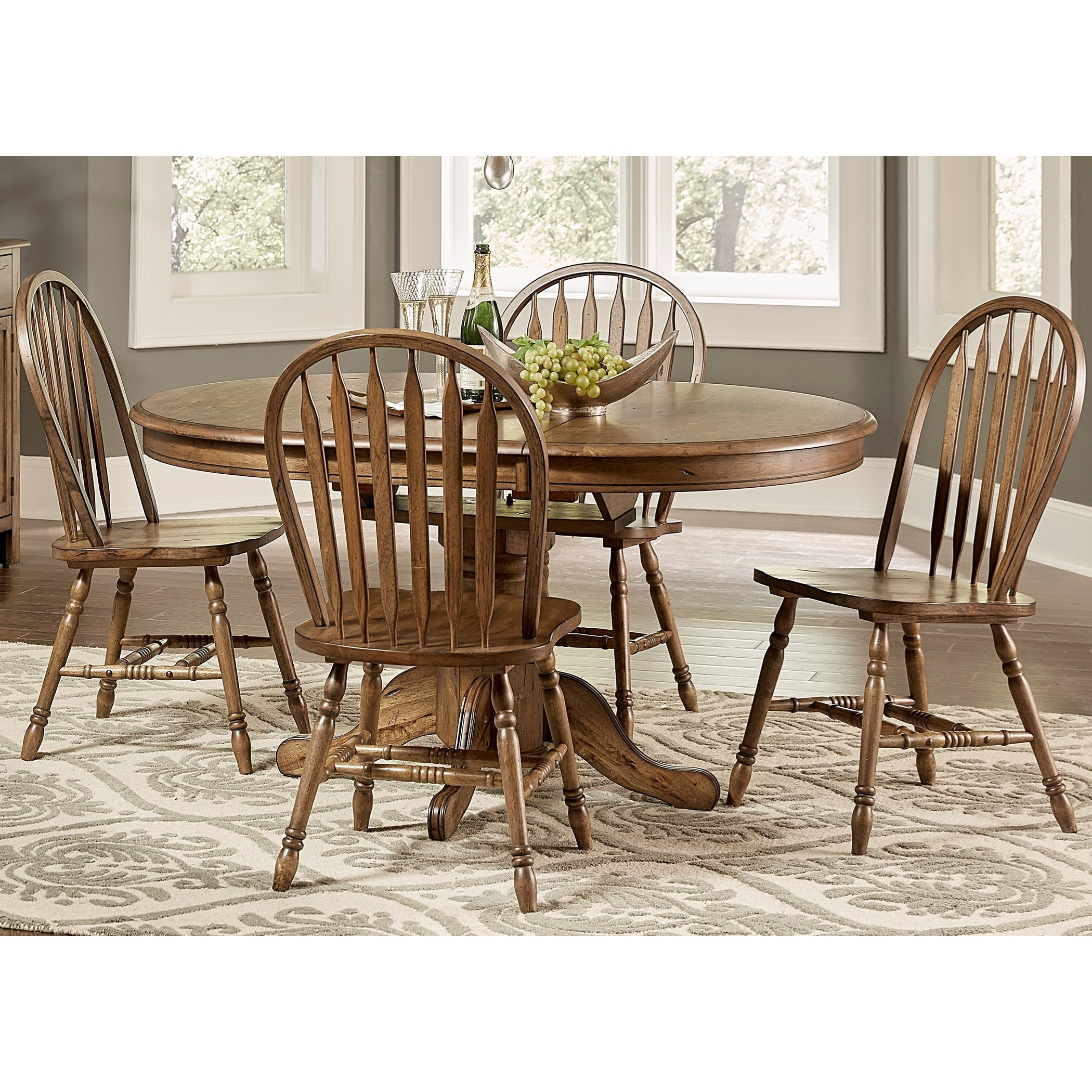Carolina Crossing Pedestal Table and Chair Set by Freedom Furniture at Ruby Gordon Home