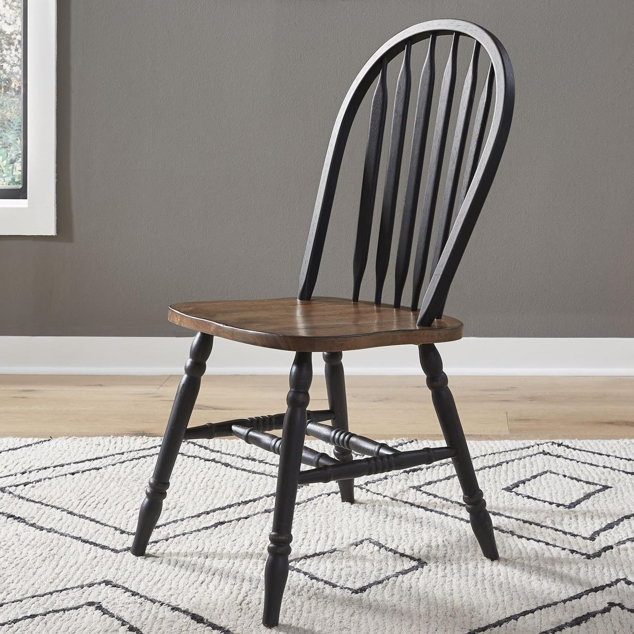 Carolina Crossing Windsor Side Chair by Libby at Walker's Furniture