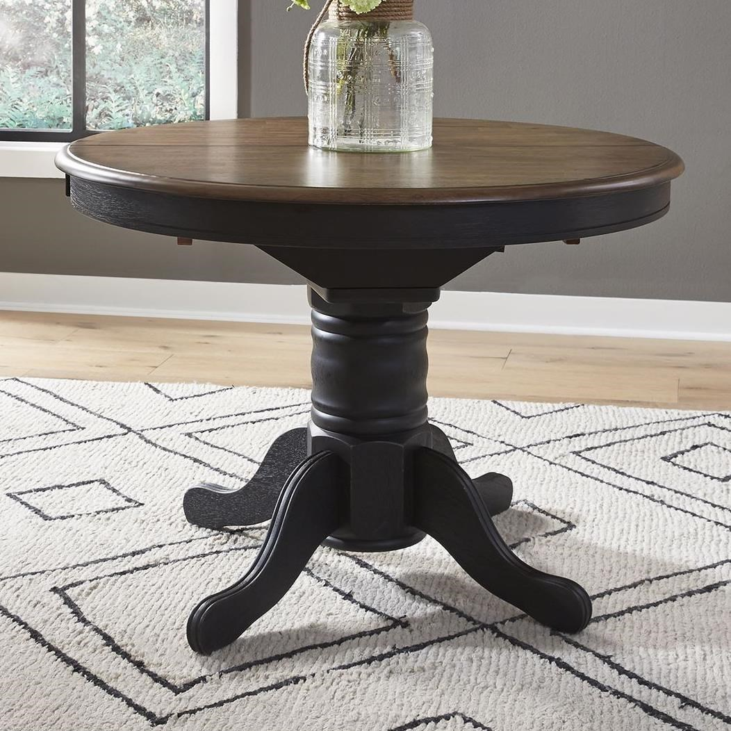 Carolina Crossing Oval Pedestal Dining Table by Liberty Furniture at Northeast Factory Direct