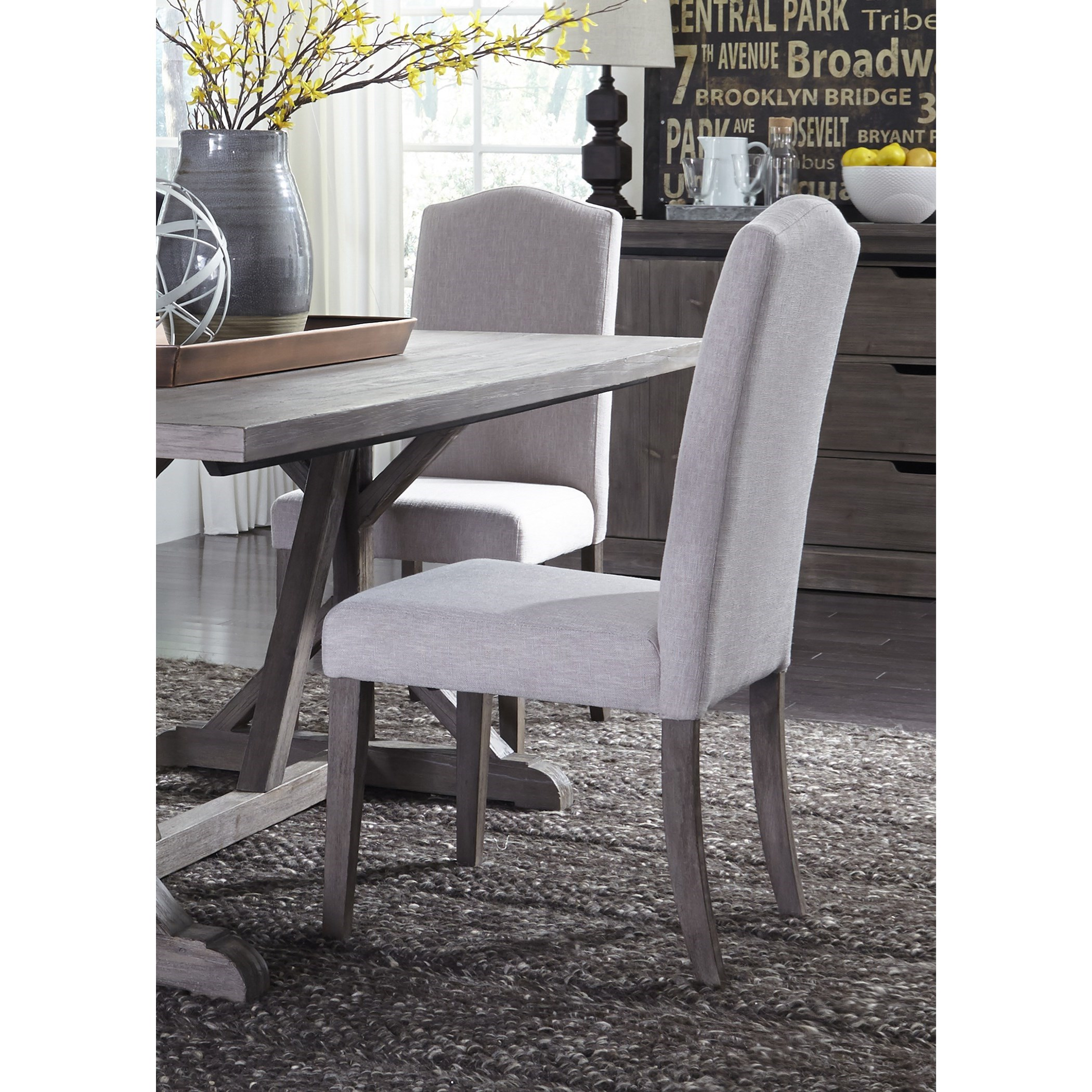 Carolina Lakes Upholstered Side Chair by Libby at Walker's Furniture