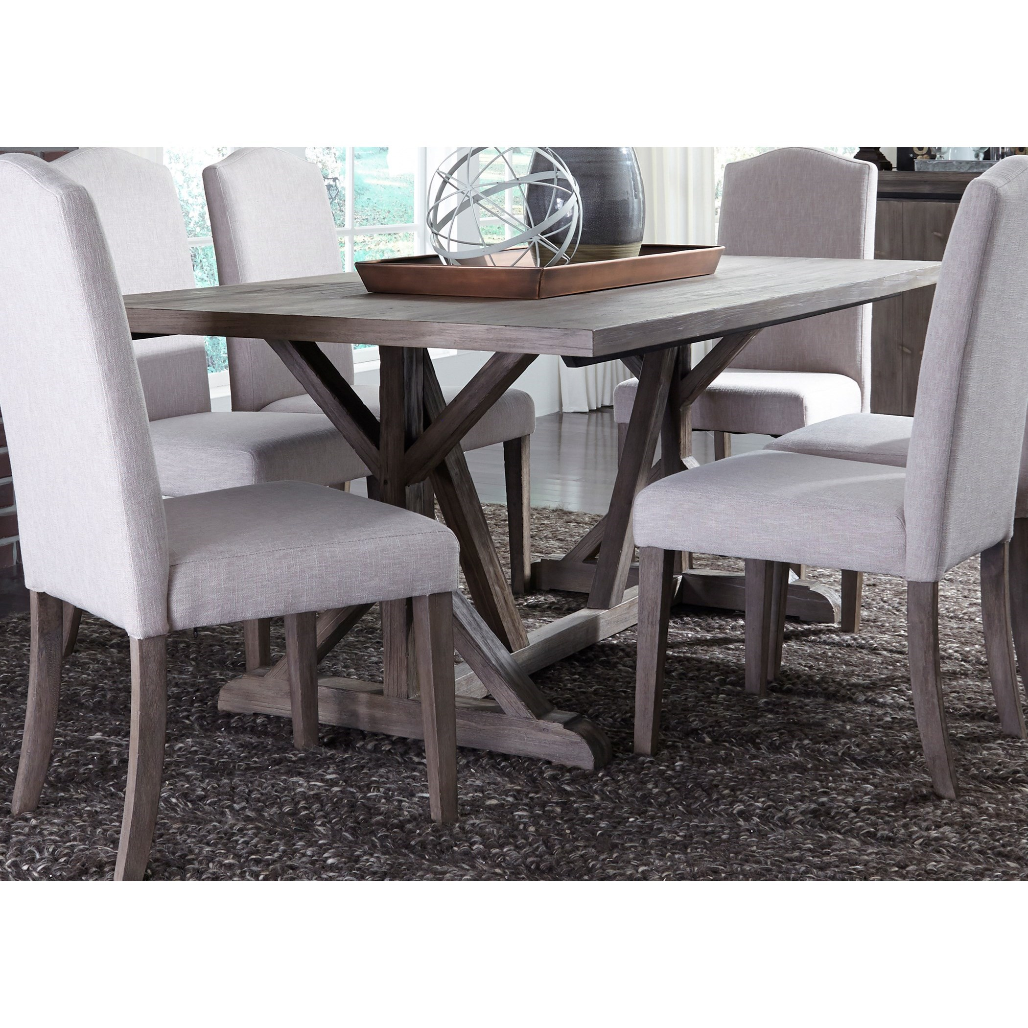 Carolina Lakes Trestle Table by Libby at Walker's Furniture