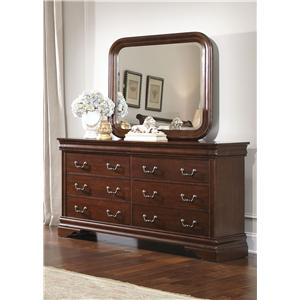 Liberty Furniture Carriage Court Dresser & Mirror