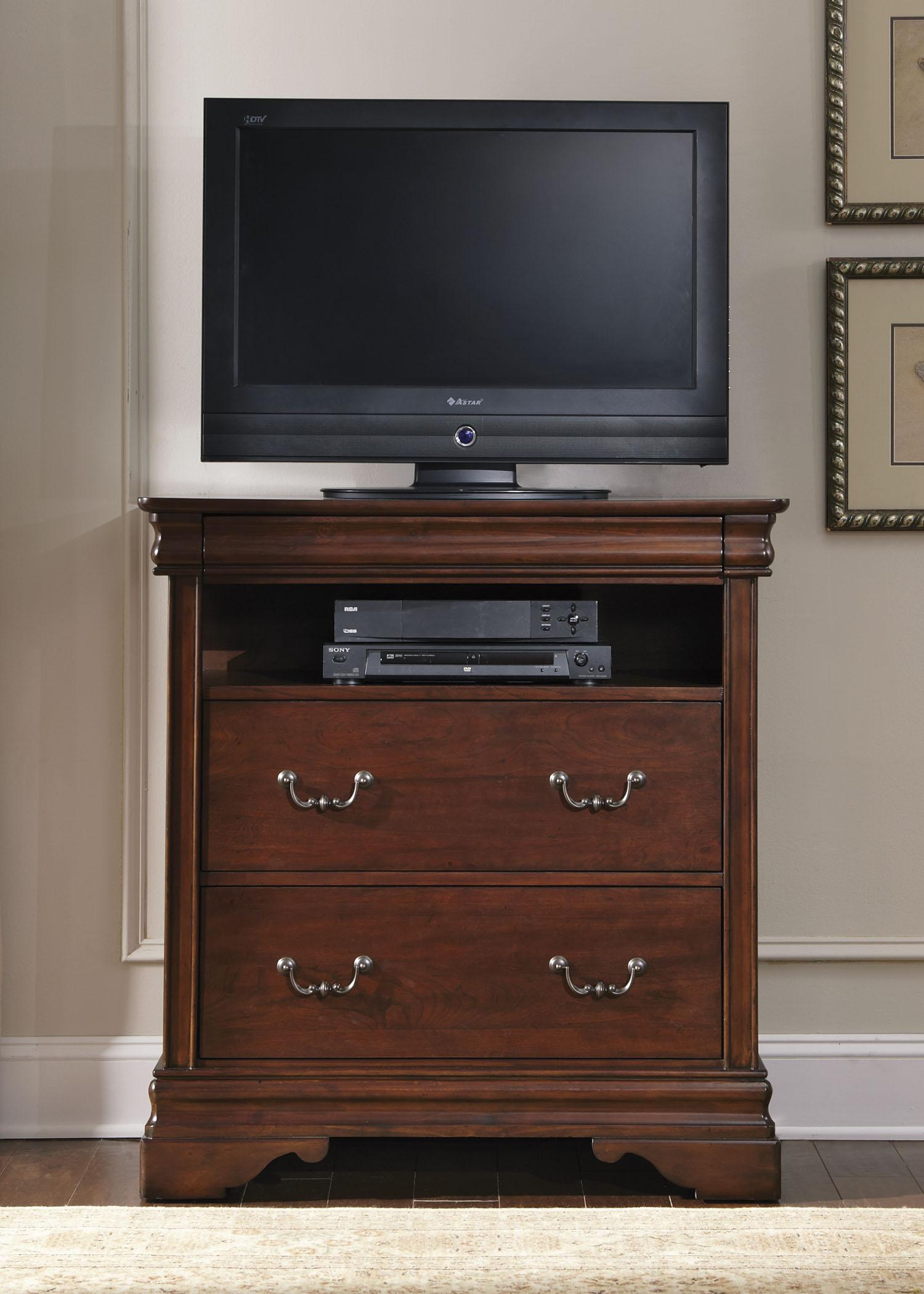 Carriage Court Media Chest by Libby at Walker's Furniture