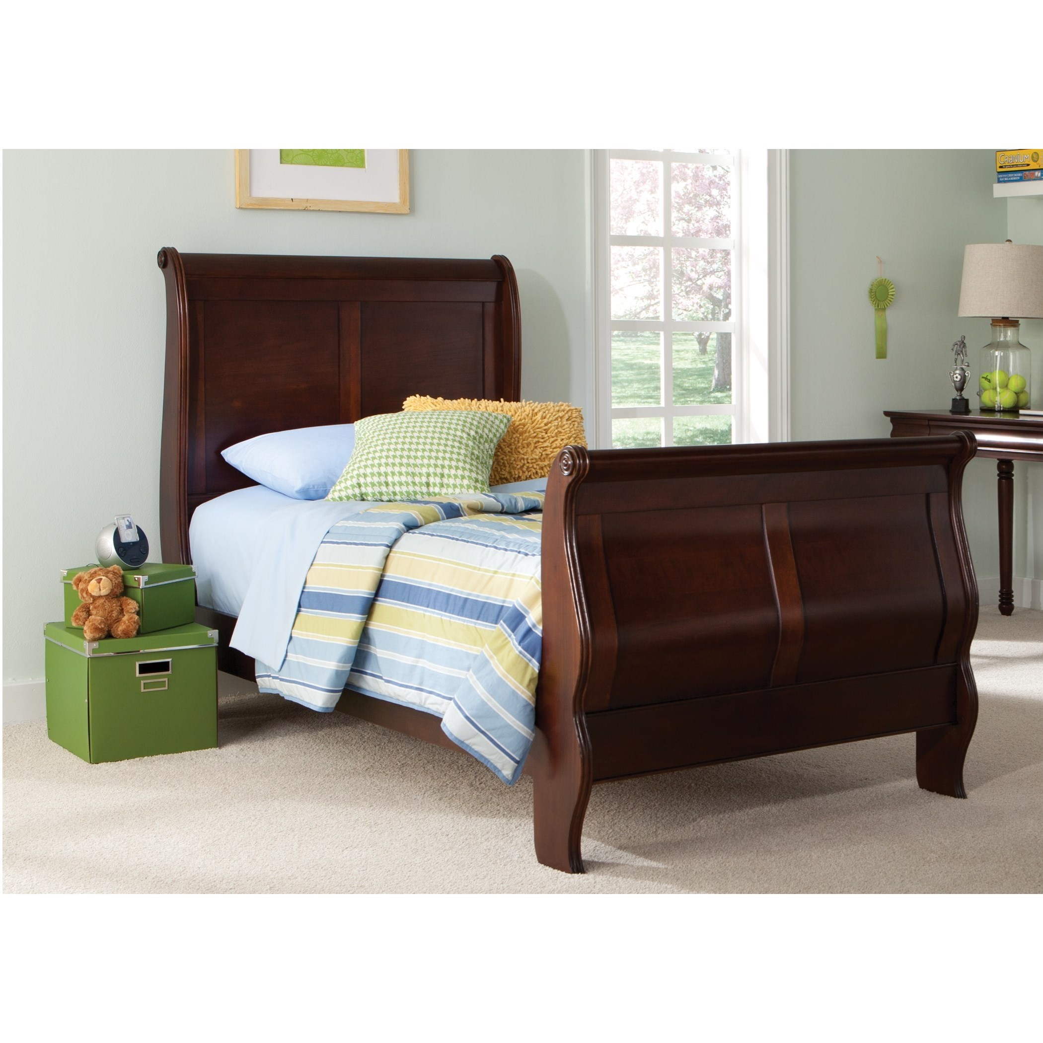Carriage Court Twin Sleigh Bed by Libby at Walker's Furniture