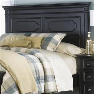 King Panel Headboard with Raised Panels and Moulding