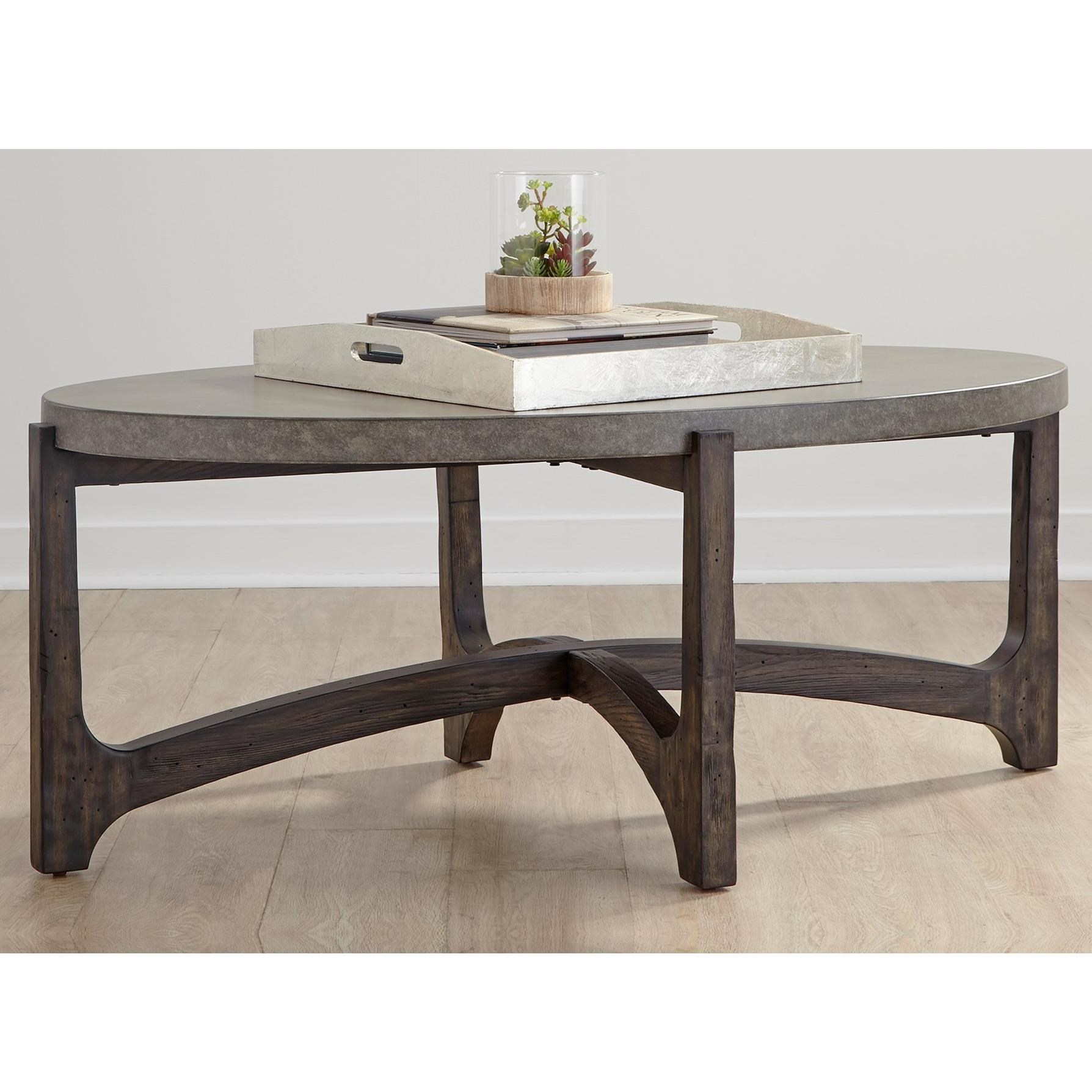 Cato Oval Cocktail Table by Libby at Walker's Furniture