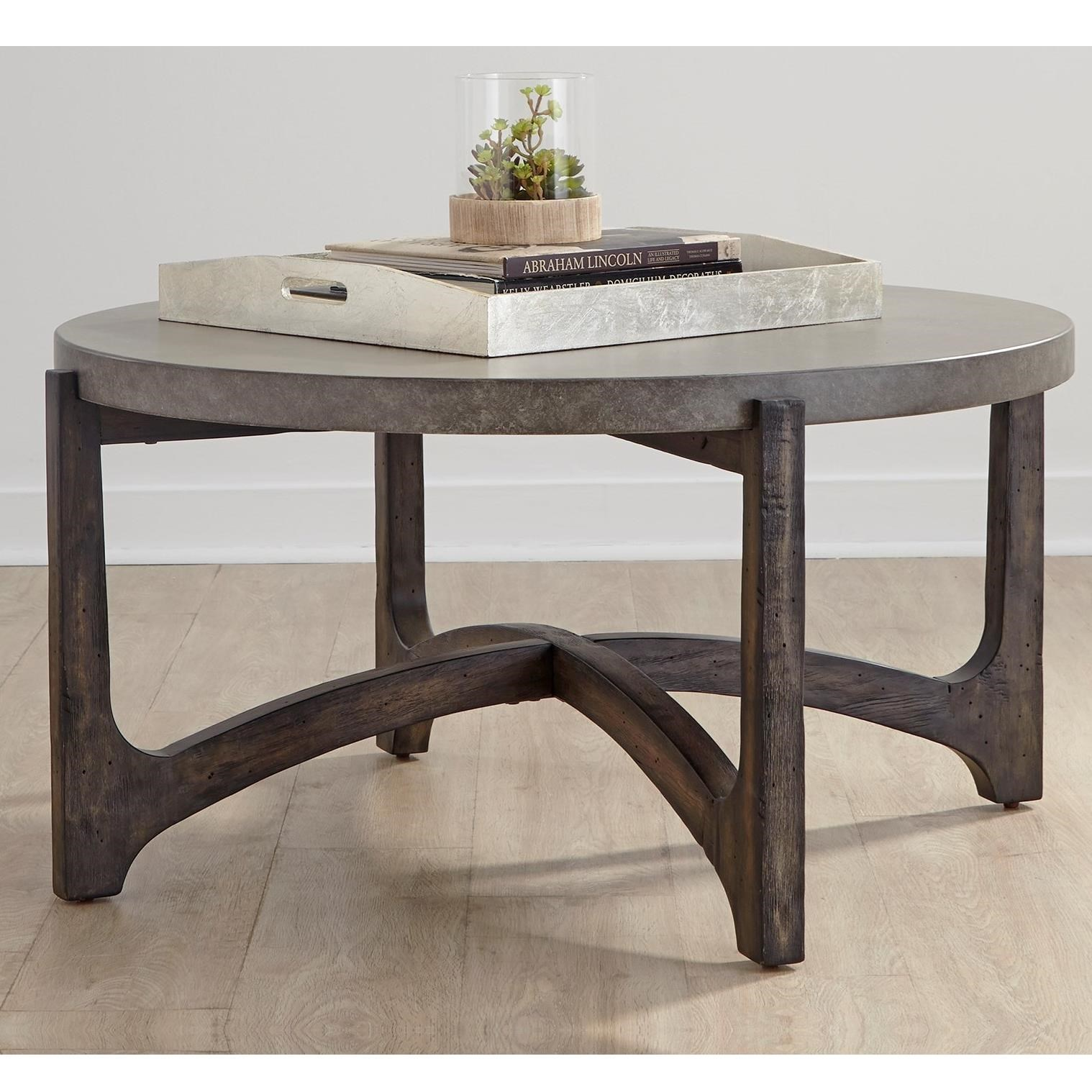 Cascade Round Cocktail Table by Liberty Furniture at Standard Furniture