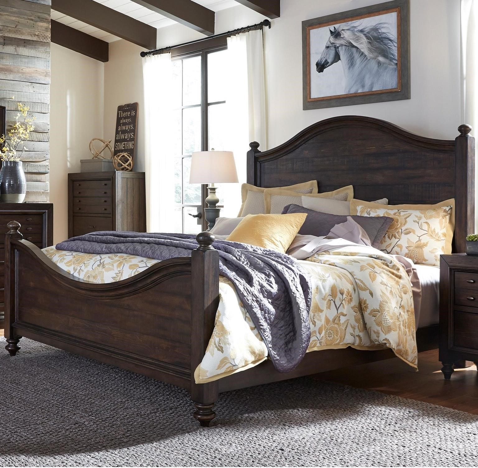 Catawba Hills Bedroom King Poster Bed  by Liberty Furniture at Northeast Factory Direct