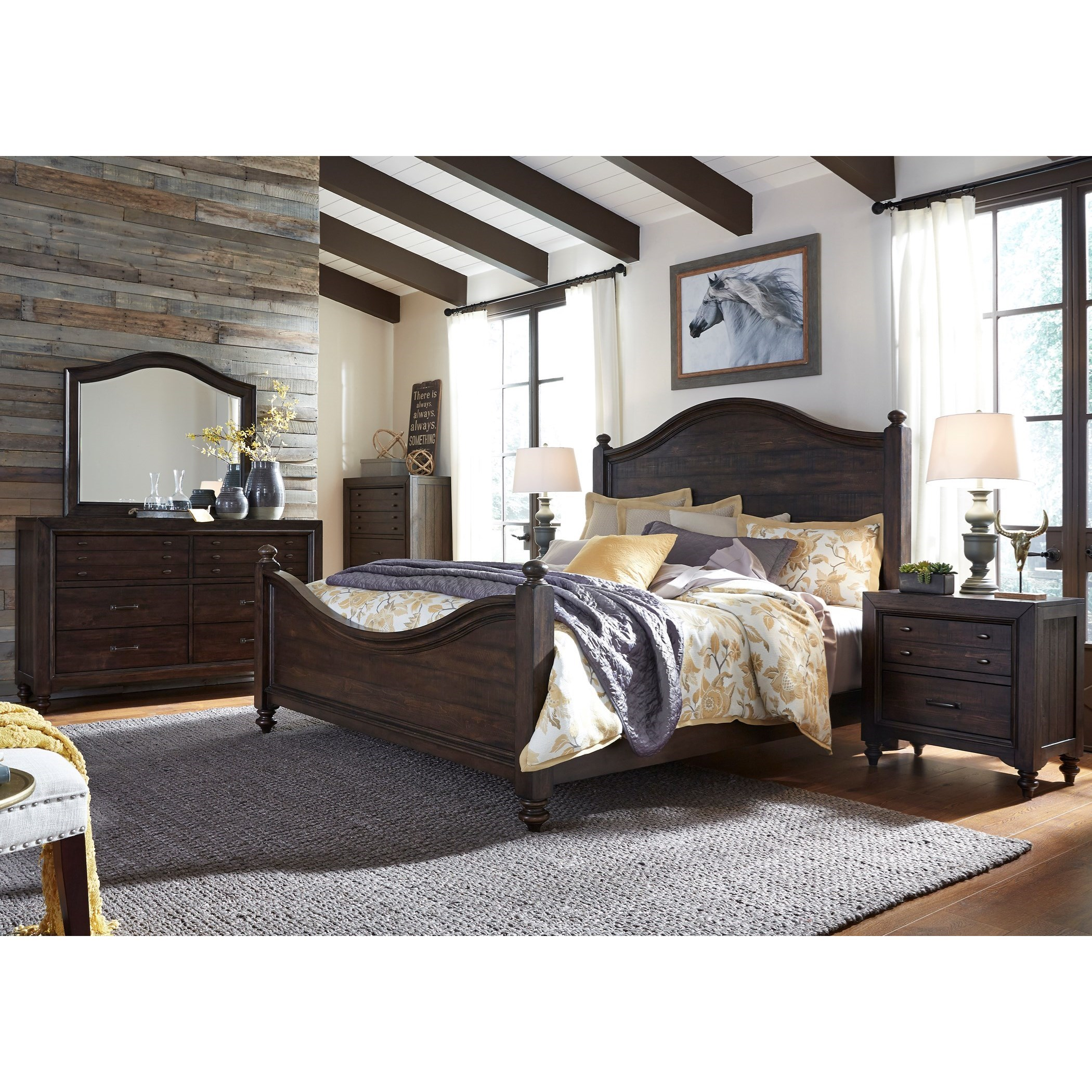 Catawba Hills Bedroom King Poster Bed Bedroom Group by Libby at Walker's Furniture