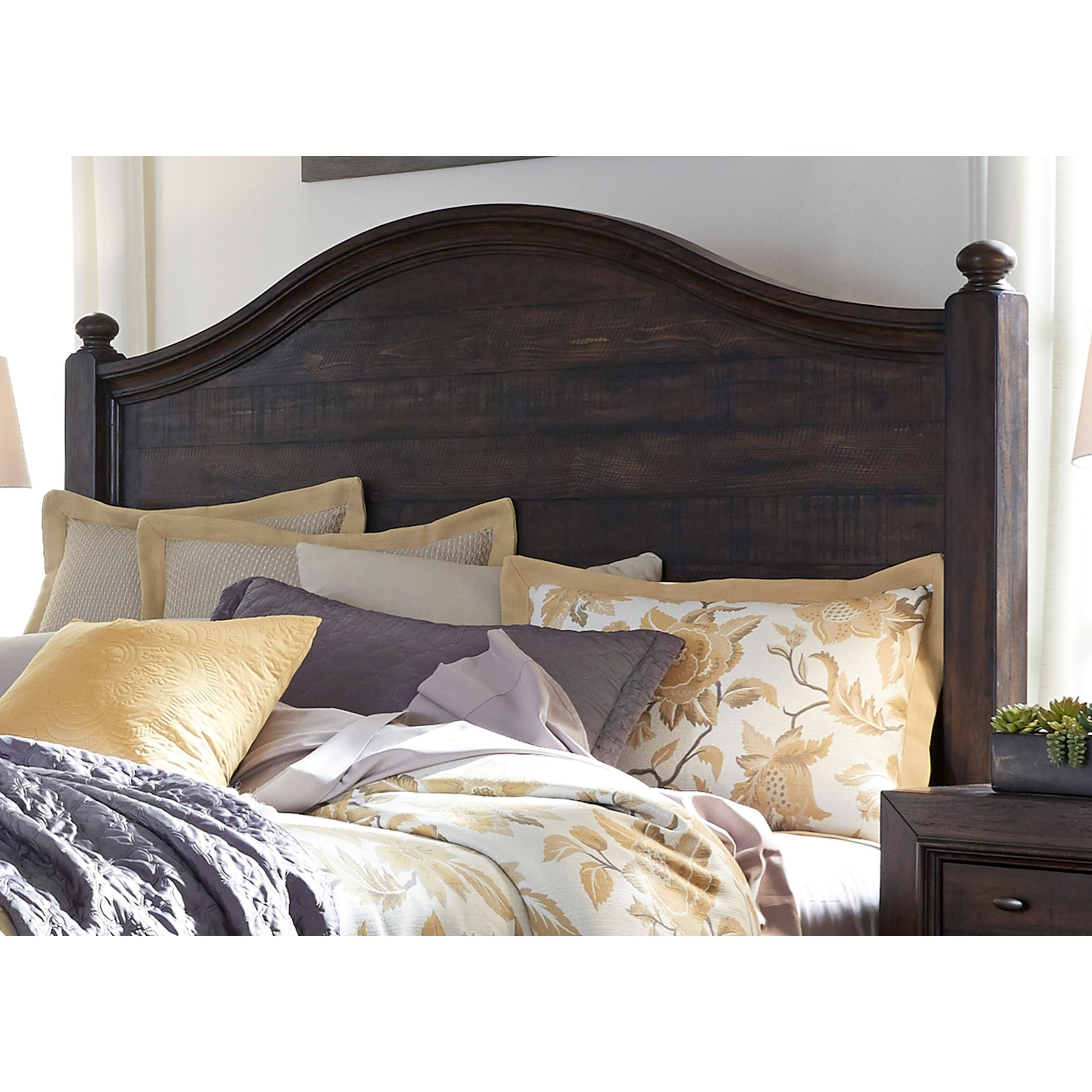 Catawba Hills Bedroom King Poster Headboard by Liberty Furniture at Home Collections Furniture