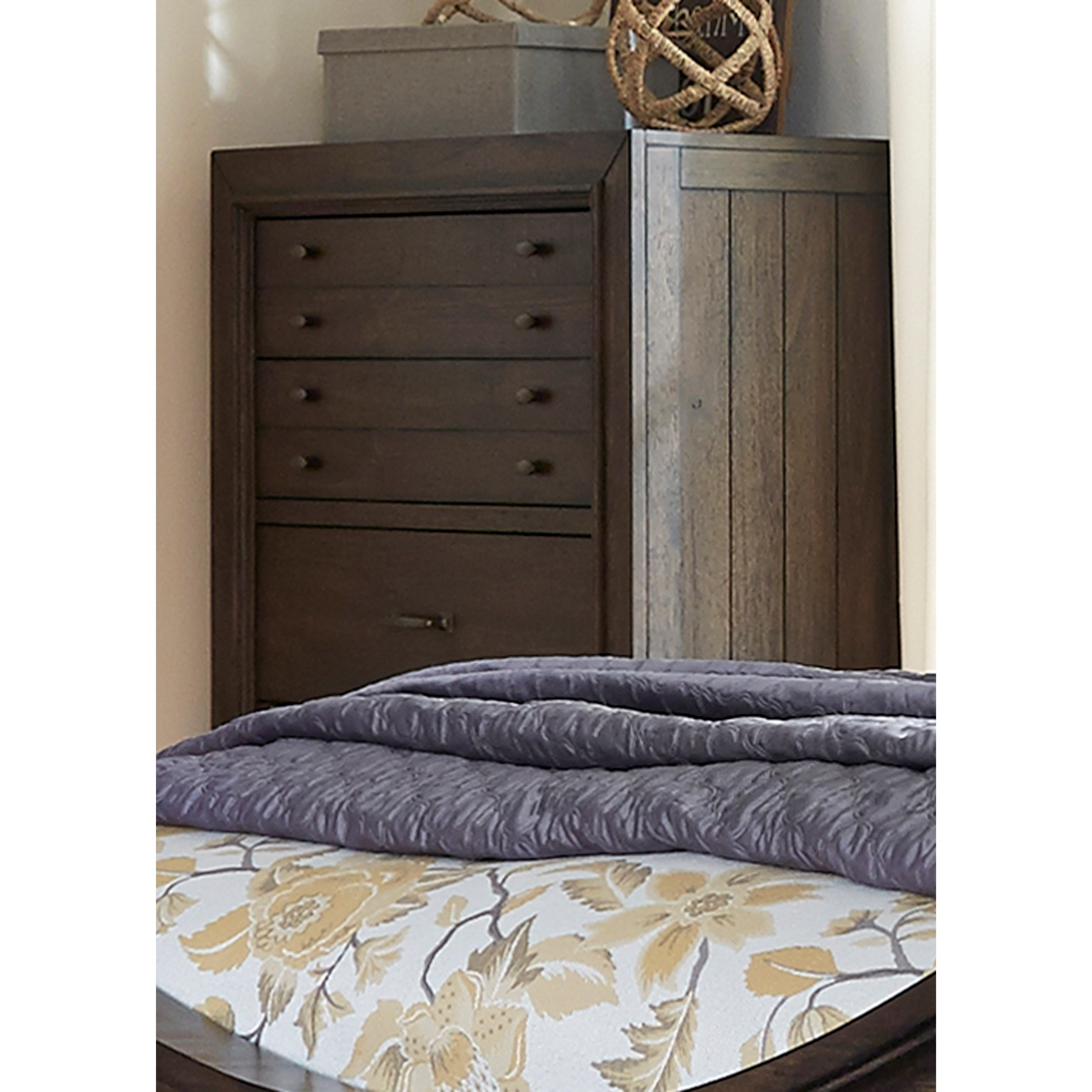 Catawba Hills Bedroom 5 Drawer Chest with Dovetail Drawers by Libby at Walker's Furniture