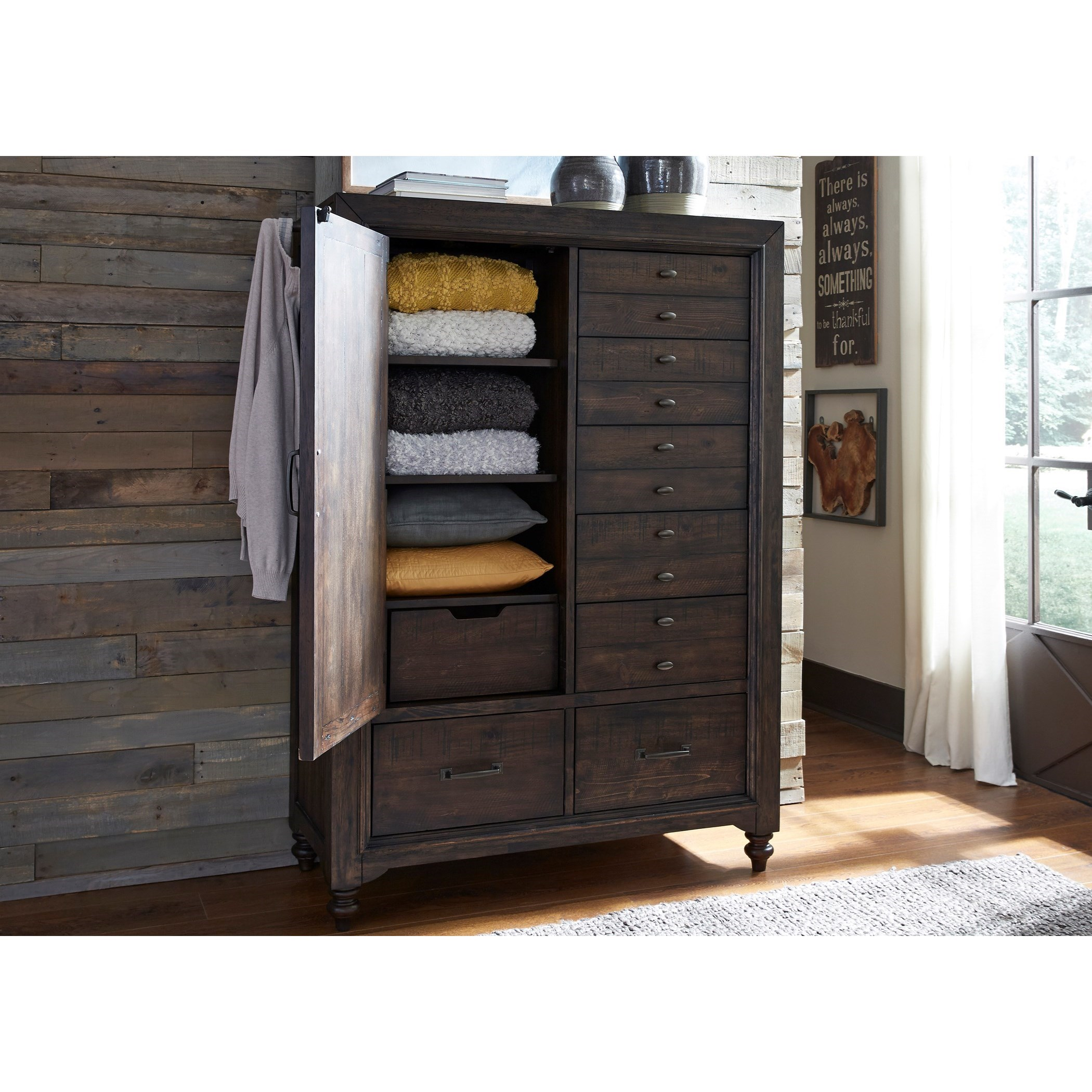 Catawba Hills Bedroom Door Chest with 7 Dovetail Drawers by Liberty Furniture at Northeast Factory Direct