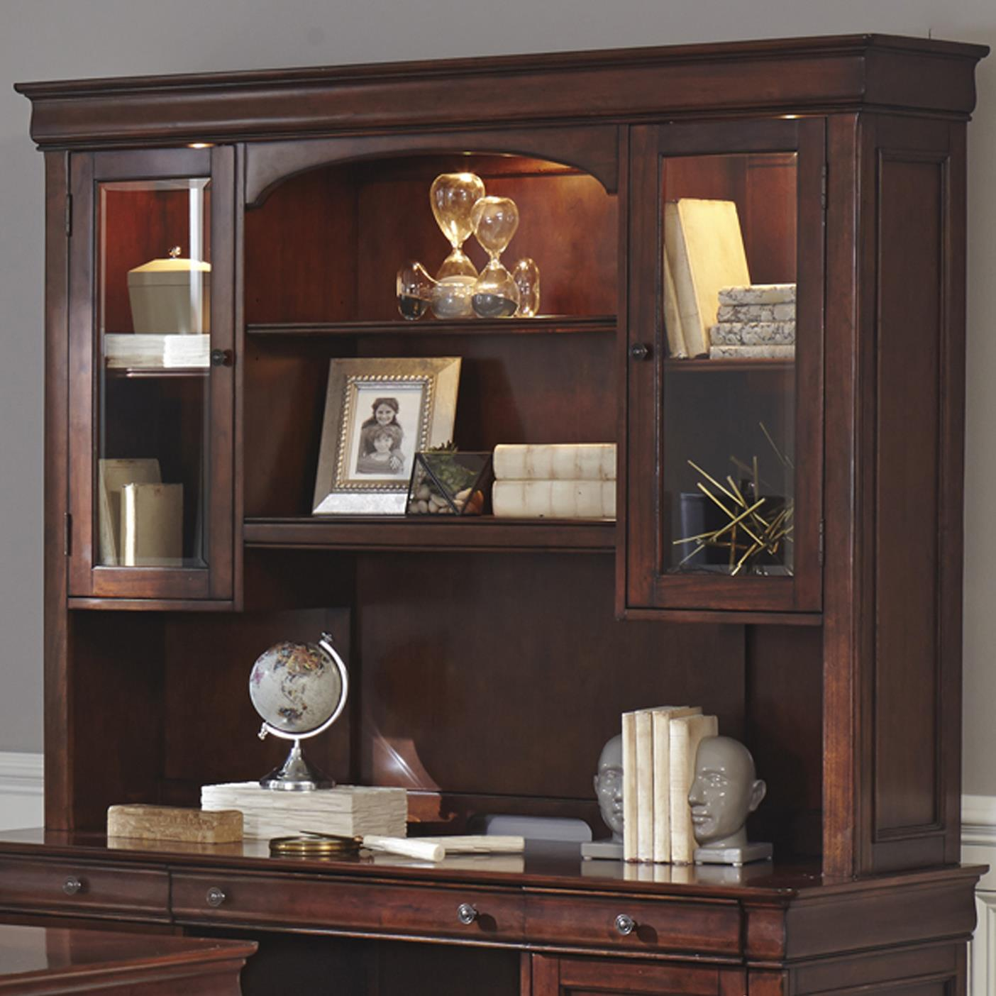 Chateau Valley Jr Executive Credenza Hutch by Libby at Walker's Furniture