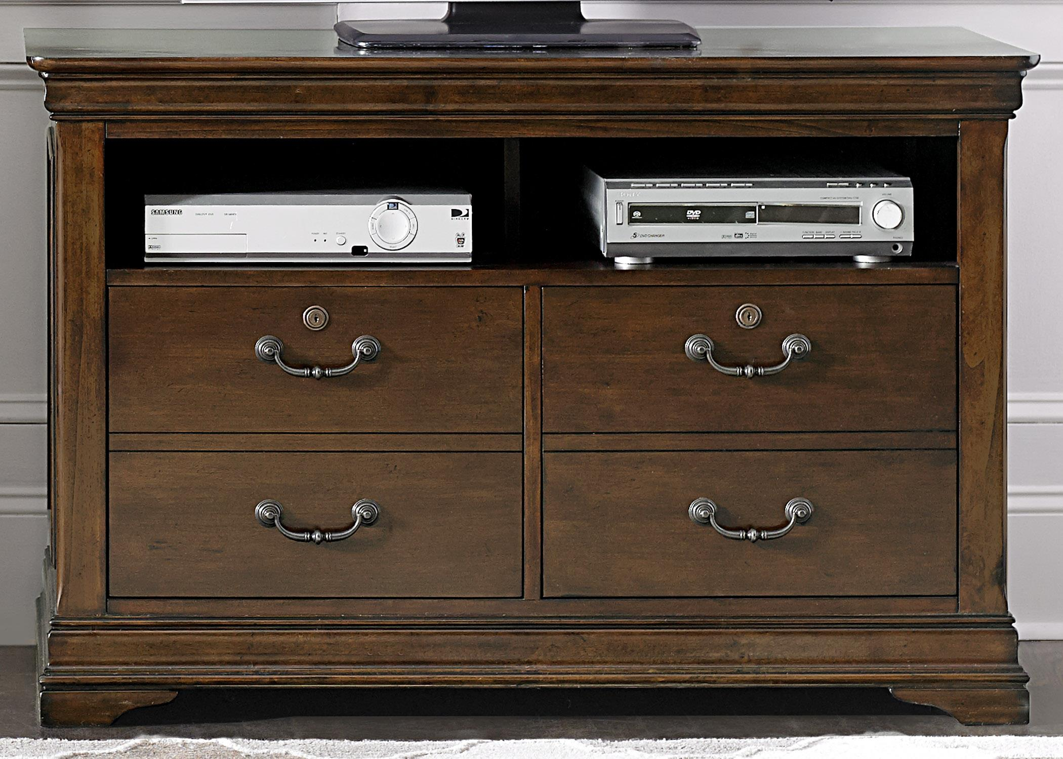 Chateau Valley Media File Cabinet by Liberty Furniture at Northeast Factory Direct