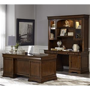 Liberty Furniture Chateau Valley 5 Piece Jr Executive Set