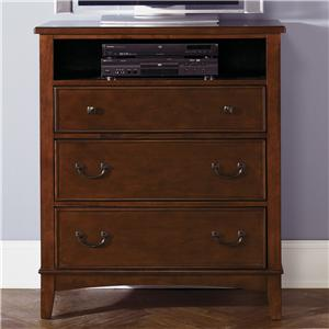 Three-Drawer Chest with Open Media Shelf