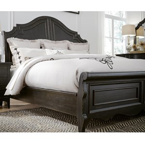 Relaxed Vintage King Sleigh Bed