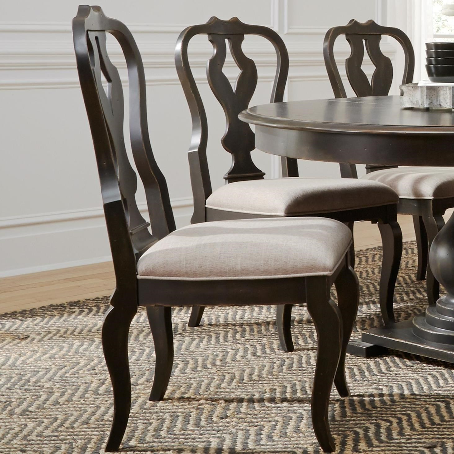 Chesapeake Splat Back Side Chair by Libby at Walker's Furniture