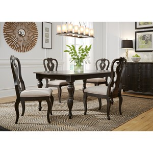 Relaxed Vintage Rectangular Dining Table and Chair Set