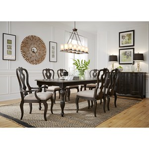 7PC Relaxed Vintage Dining Table and Chair Set