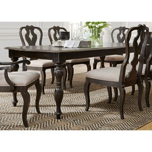 Relaxed Vintage Rectangular Dining Table with Removable Table Leaves