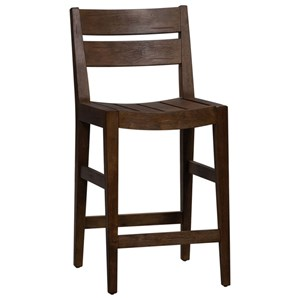 Transitional Slat Back Counter Height Chair