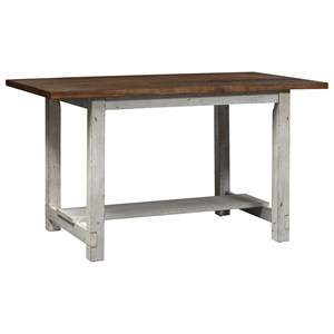 Transitional Counter Height Gathering Table