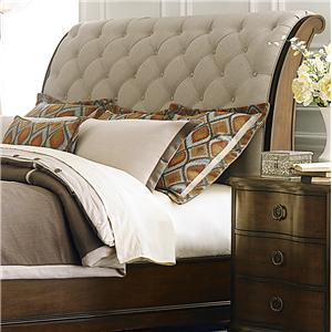 Transitional King Upholstered Sleigh Headboard