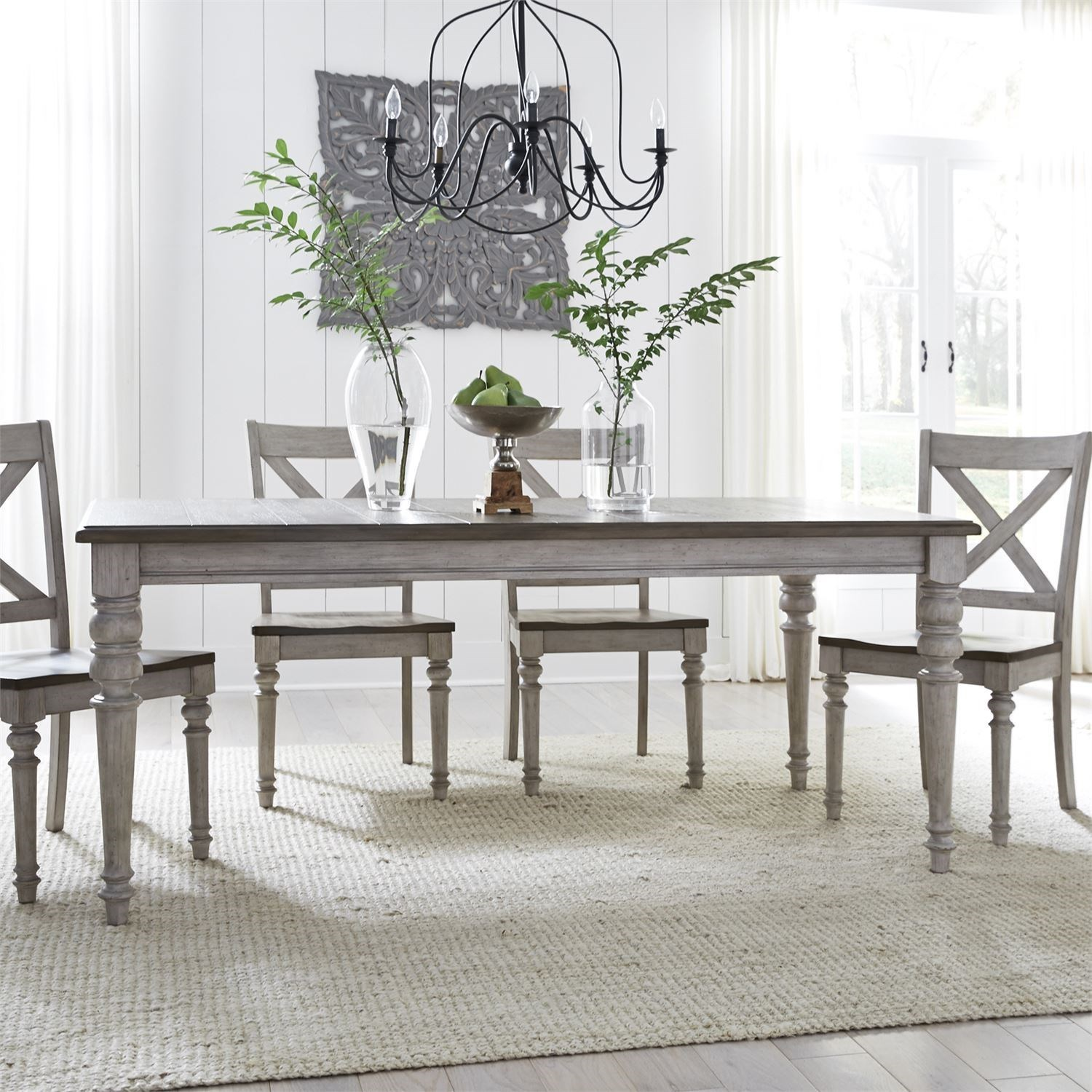 Cottage Lane 5-Piece Rectangular Table Set by Liberty Furniture at Northeast Factory Direct