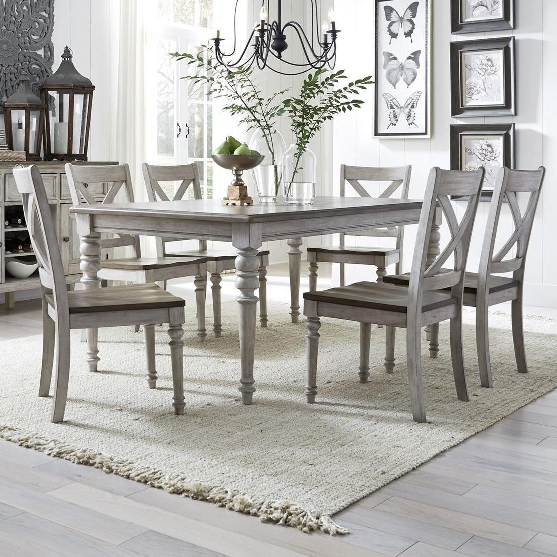 Cottage Lane 7-Piece Rectangular Table Set by Libby at Walker's Furniture