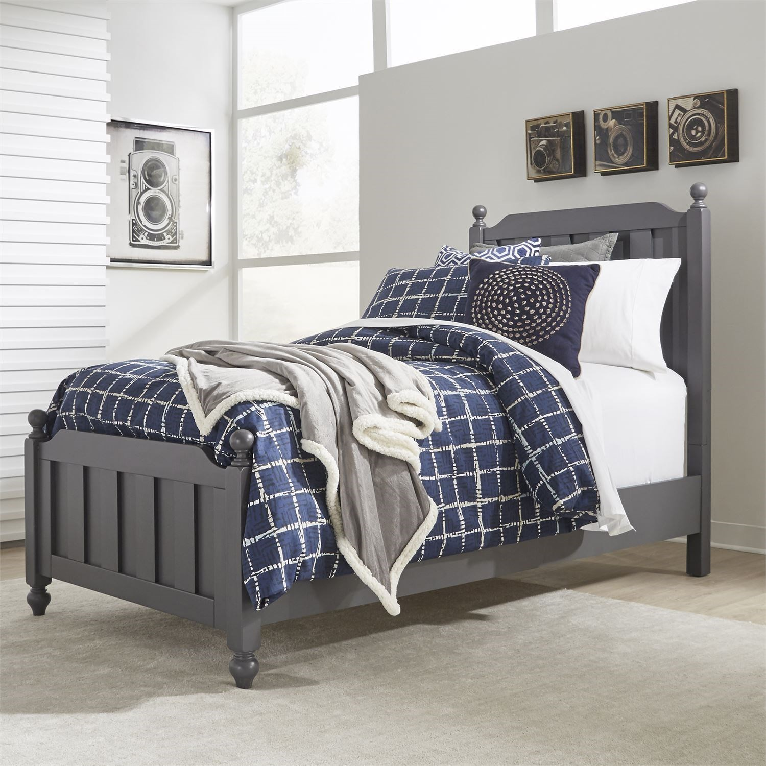 Cottage View Twin Panel Bed by Libby at Walker's Furniture