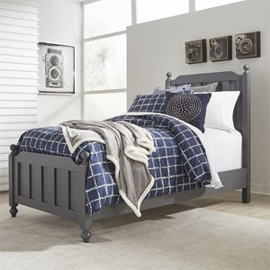 Cottage Style Twin Panel Bed with Bun Feet
