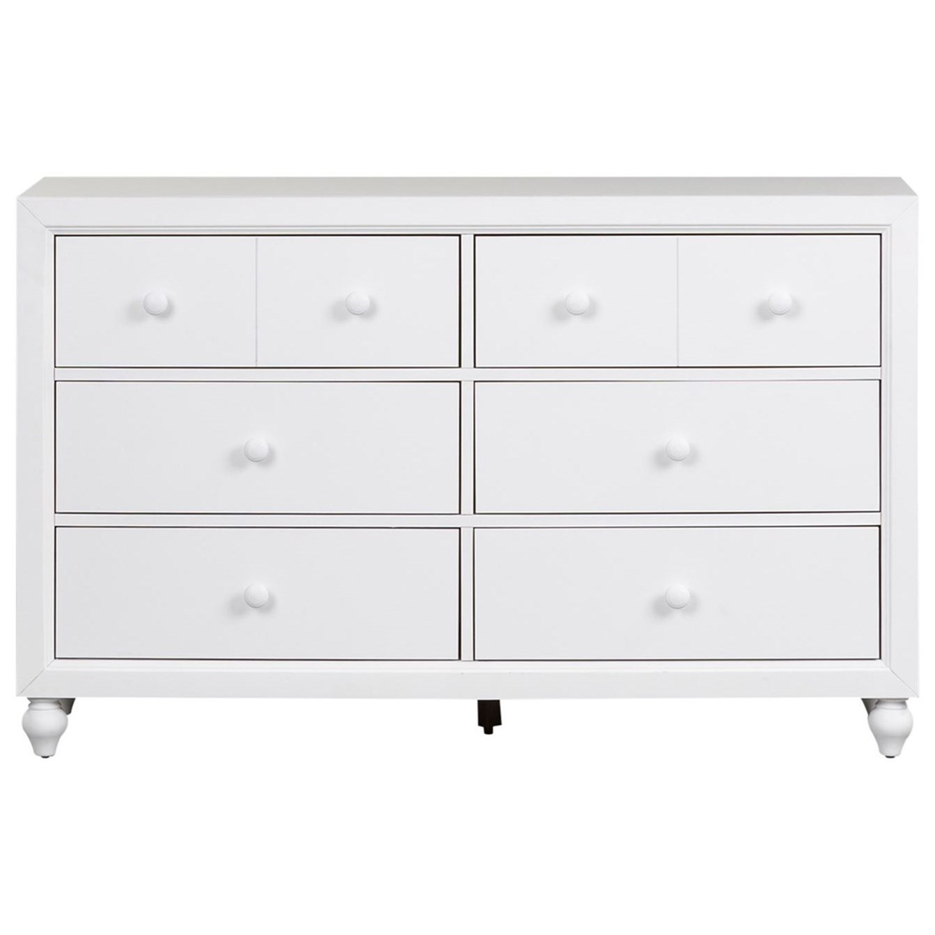 Cottage View 6 Drawer Dresser by Liberty Furniture at Prime Brothers Furniture