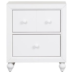 Cottage Style Nightstand with Bun Feet