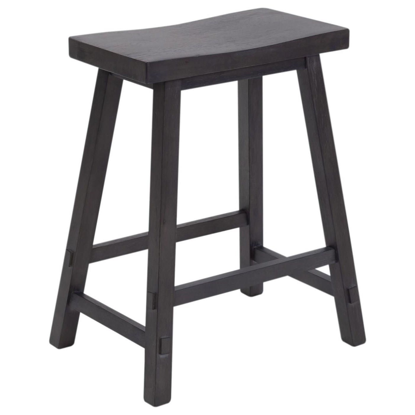 Creations II 24 Inch Sawhorse Barstool by Liberty Furniture at Northeast Factory Direct