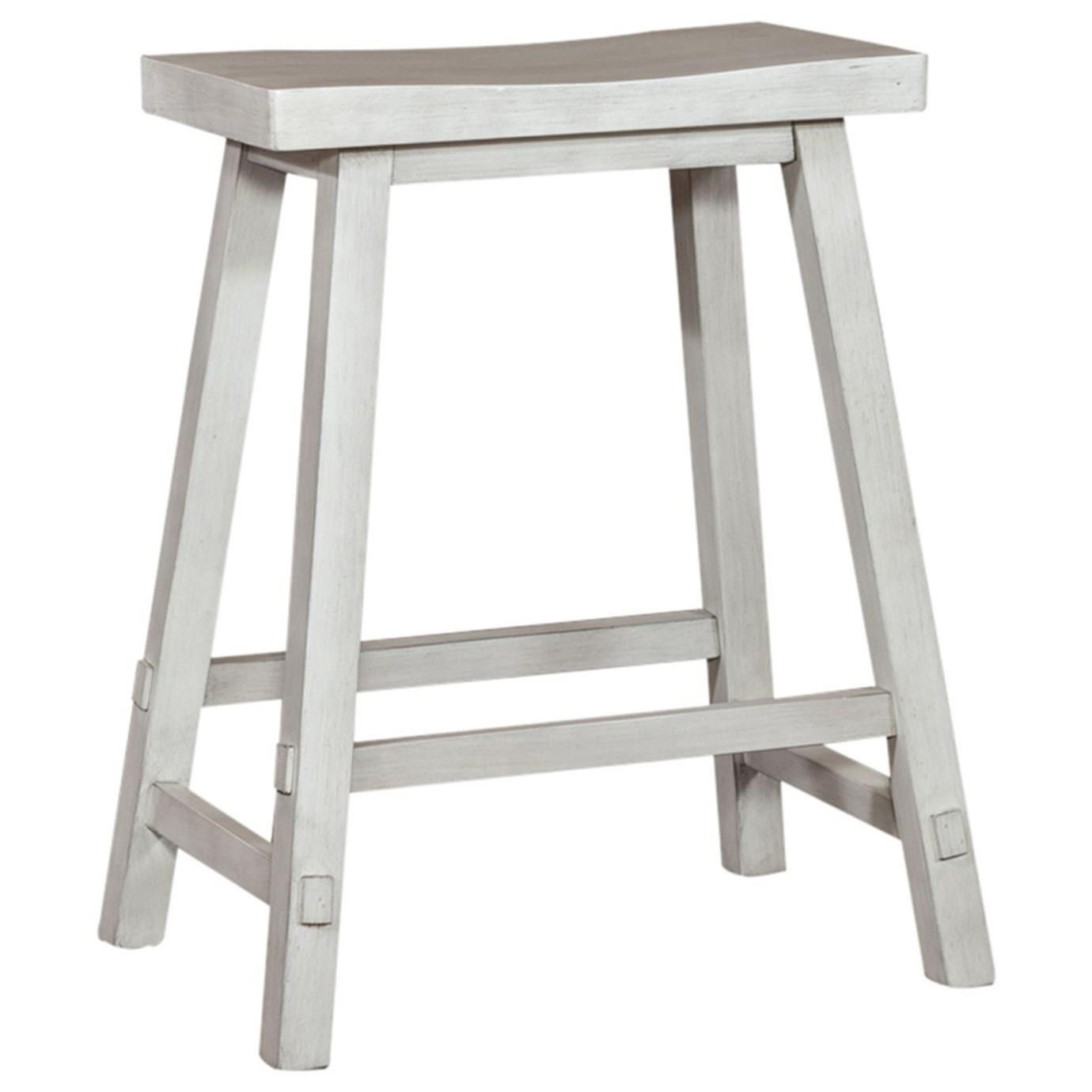 Creations II 24 Inch Sawhorse Barstool by Libby at Walker's Furniture