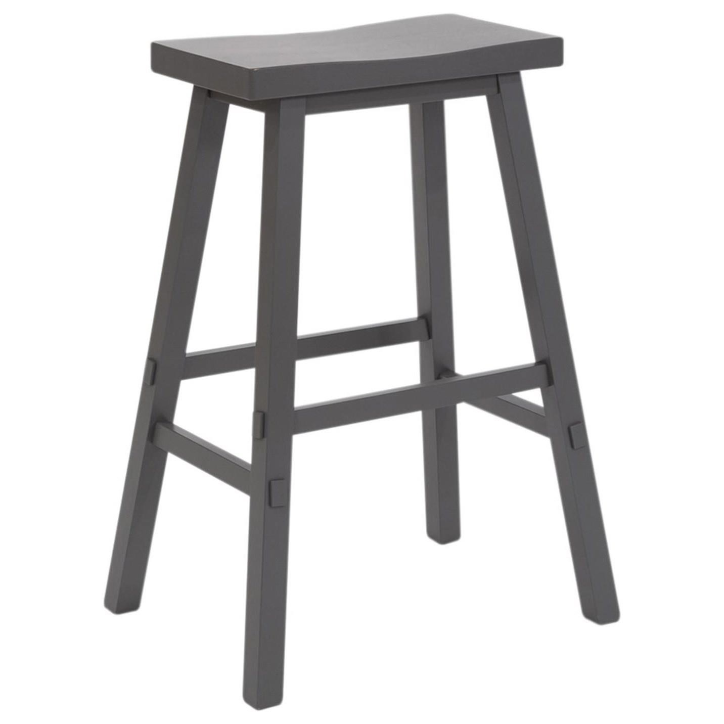 Creations II 30 Inch Sawhorse Barstool by Liberty Furniture at Northeast Factory Direct